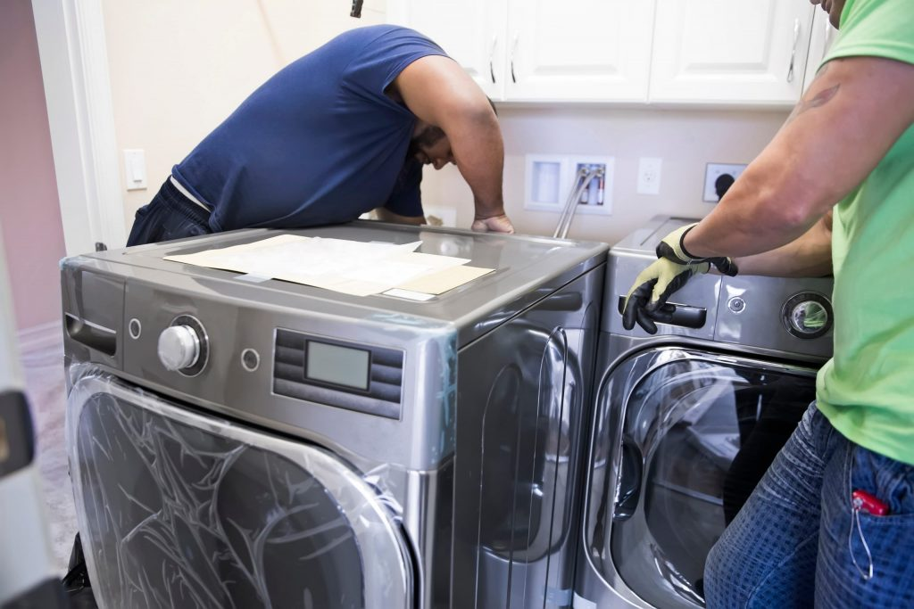 washer and dryer installation by our team ajax