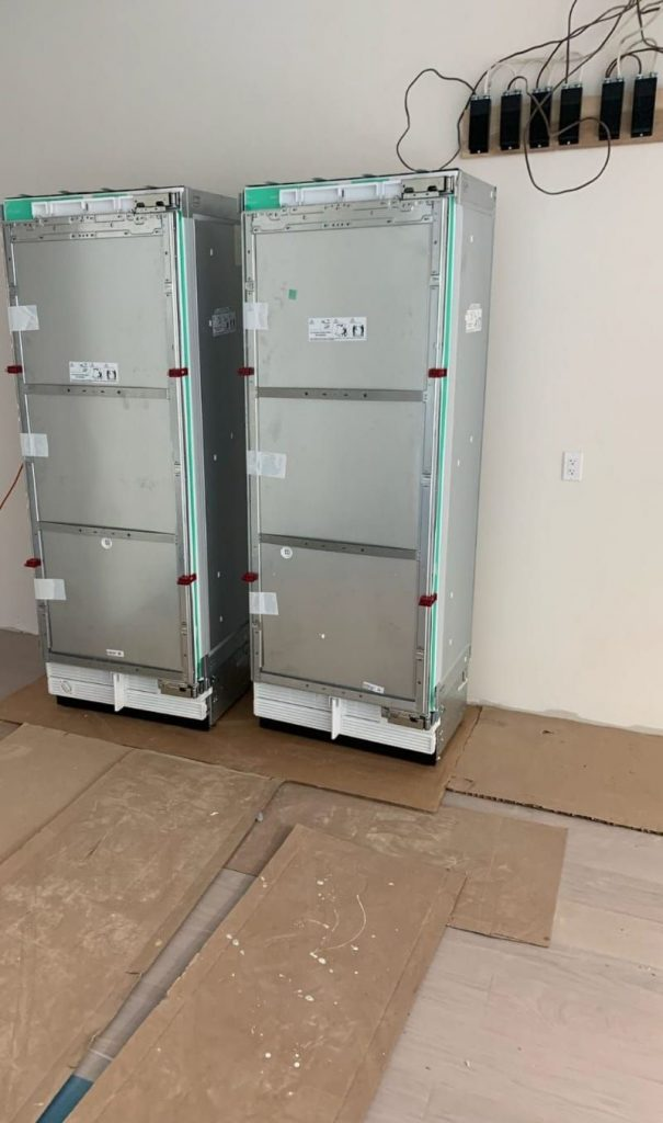 unpacking build in refrigerator - appliance installation toronto