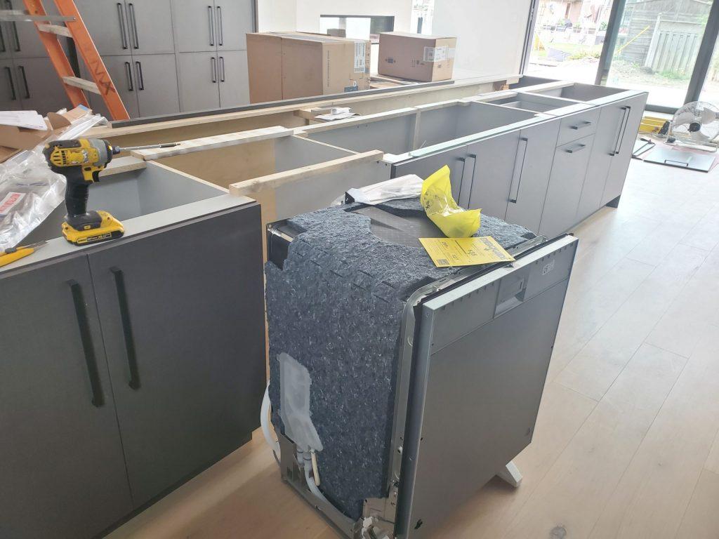 Dishwasher Installation in Progress North York