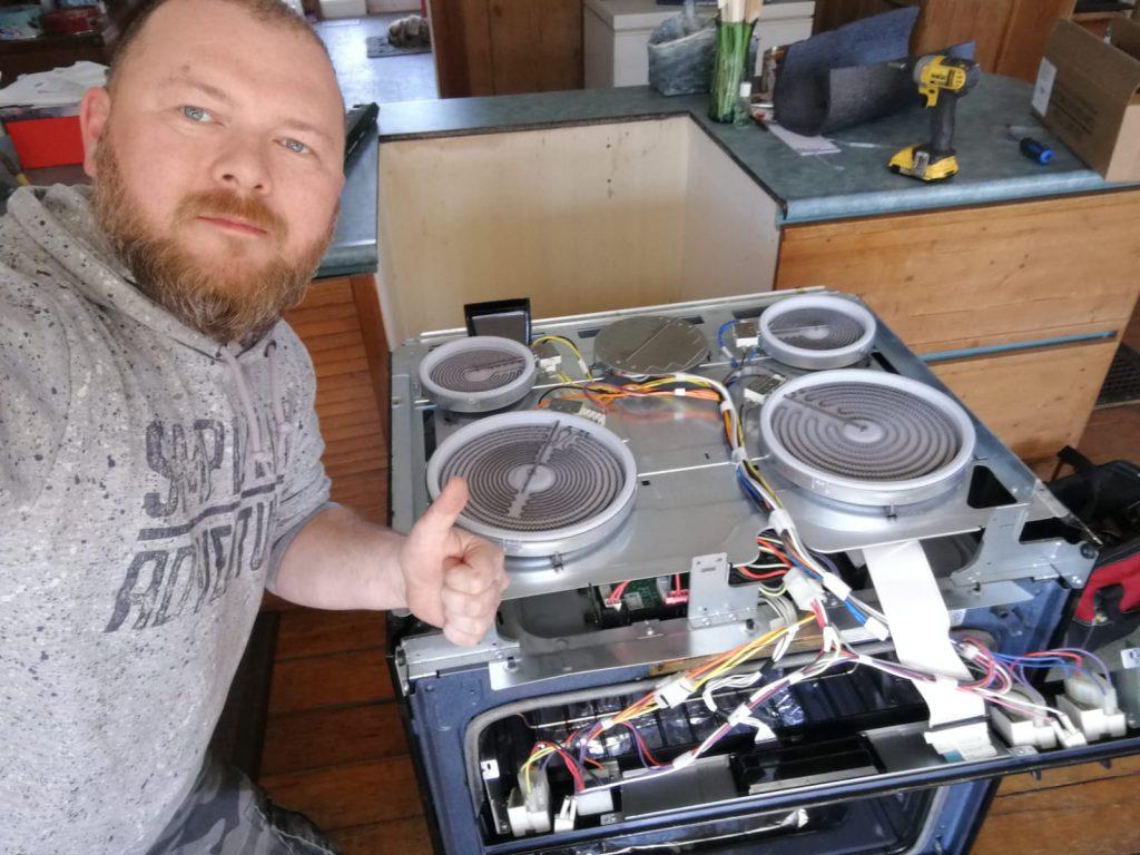 Alpha Tech Appliances Team in Progress of Stove Repair Newmarket